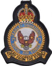 No. 71 (Eagle) Squadron Royal Air Force RAF Crest MOD Embroidered Patch